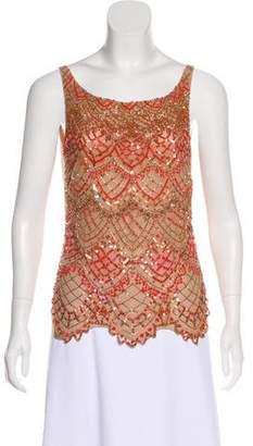Valentino Sleeveless Embellished Top