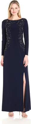 Alex Evenings Women's Embroidered Evening Dress