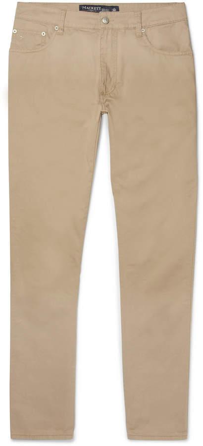 Trinity Slim-Fit Stretch-Cotton Twill Trousers