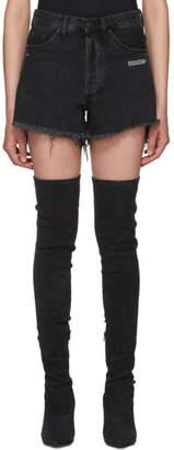 Off-White Off White Black Denim Shorts