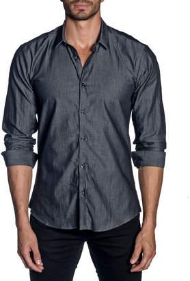 Jared Lang Men's Modern-Fit Chambray Long-Sleeve Shirt