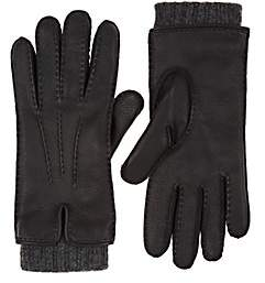Barneys New York Women's Extended-Cuff Leather Gloves - Black