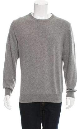 Maison Margiela Leather-Accented Wool Sweater