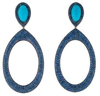 Carla Amorim 18K Turquoise & Sapphire Drop Earrings