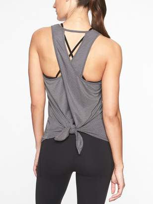 Athleta Essence Texture Tie Back Tank