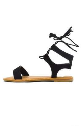Bamboo Corset Lace-Up Sandal $21.50 thestylecure.com