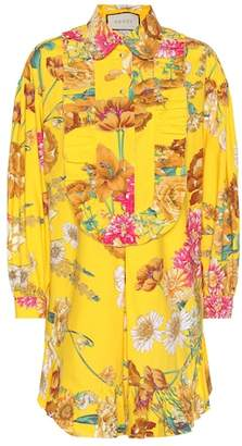 Gucci Floral-printed cotton shirt