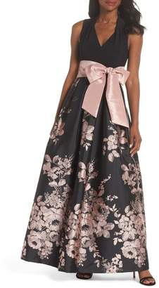 Eliza J Ity Floral Gown