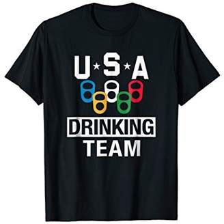 USA Drinking Team Shirt Beer Party T-Shirt