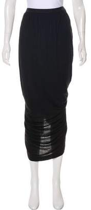 Rick Owens Lilies Ruched Midi Skirt
