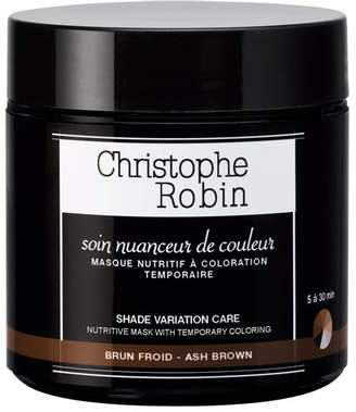 Christophe Robin Shade Variation Care Nutritive Mask with Temporary Coloring ; Ash Brown, 8.4 oz./ 250 mL