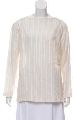 Theory Bateau Neck Striped Tunic