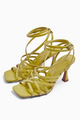 Topshop Womens Rhapsody Strappy Sandals - Lime