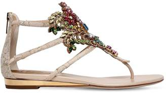 Rene Caovilla 20mm Swarovski Lace Sandals