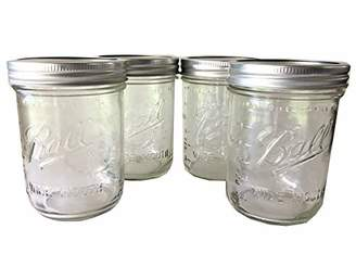 Ball Mason Jar-16 oz. Clear Glass Wide Mouth - Set of 4