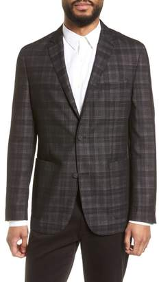 Vince Camuto Delaria Plaid Wool Blend Jacket