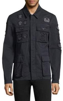 John Varvatos Patched Zip Jacket