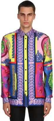 Versace Pop Print Fluid Silk Twill Shirt