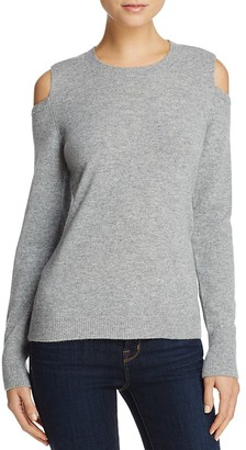 Minnie Rose Cold Shoulder Cashmere Sweater $216 thestylecure.com