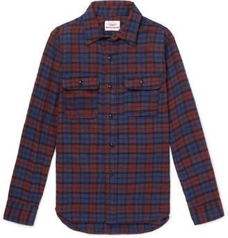 Battenwear Checked Cotton-Flannel Shirt