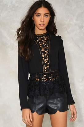 Nasty Gal Down to You Crochet Blouse