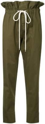 Bassike ruffle high waist trousers