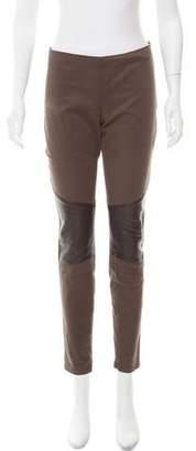 Belstaff Leather-Trimmed Skinny Pants