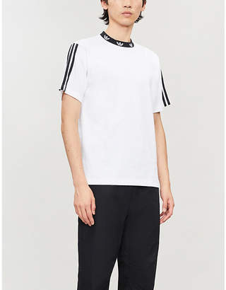adidas Trefoil ribbed cotton-jersey T-shirt