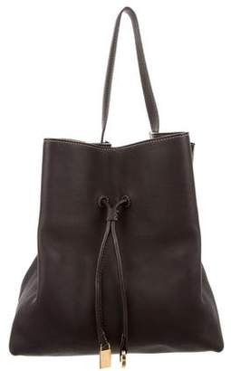 Loro Piana Grained Leather Drawstring Bag