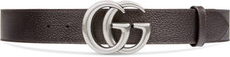 Leather belt with double G buckle $390 thestylecure.com