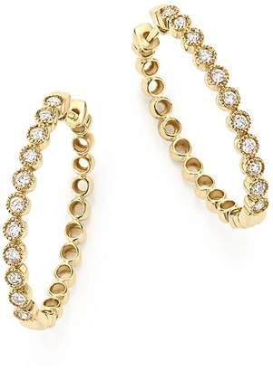 Bloomingdale's Diamond Milgrain Bezel Oval Hoop Earrings in 14K Yellow Gold, .50 ct. t.w. - 100% Exclusive