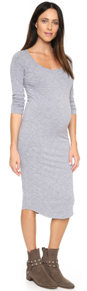 MONROW Maternity Long Sleeve Dress $130 thestylecure.com