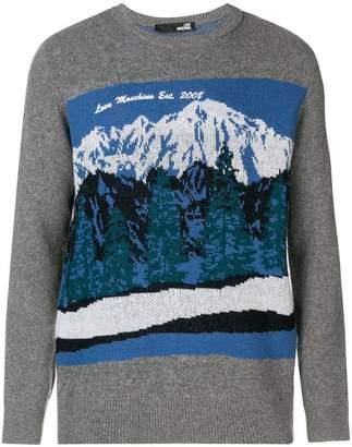 Love Moschino mountain intarsia sweater