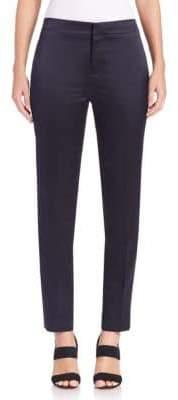 MS MIN Satin Tuxedo-Stripe Pants