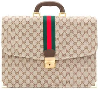 Pre-Owned GG Supreme briefcase