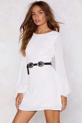 Nasty Gal Come Back to Me Tie Dress