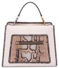 Fendi Runaway Small Leather Top Handle Bag