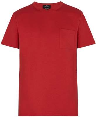 A.P.C. Pocket crew-neck cotton T-shirt
