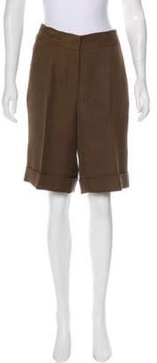 Oscar de la Renta High-Rise Silk Shorts