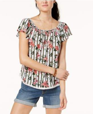 Self Esteem Juniors' Off-The-Shoulder Peasant Top