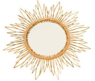 Twos Company Two's Company Rattan Sunburst Mirror