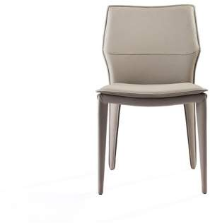 At Walmart.com · Whiteline Imports Miranda Dining Chair (Set Of Two) Light  Grey Faux Leather, Steel