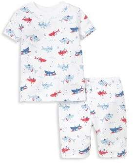 Baby's, Toddler's & Little Boy's Sea Shenanigans Shark Print Short Pajamas