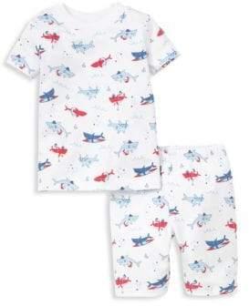 Kissy Kissy Baby's, Toddler's& Little Boy's Sea Shenanigans Shark Print Short Pajamas