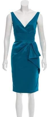 Lela Rose Silk Knee- Length Dress