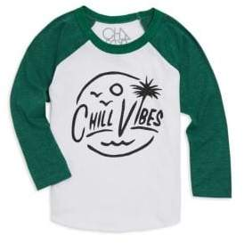 Chaser Little Boy's& Boy's Chill Vibes Long-Sleeve Tee