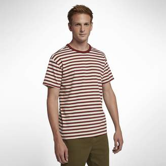 Hurley Salton Crew Mens Short-Sleeve Striped Top