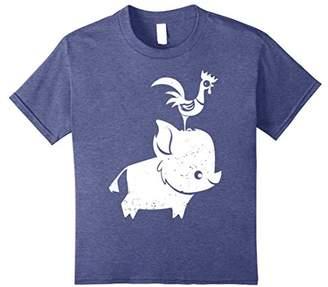 Disney Moana Cute Pua And Heihei Graphic T-Shirt