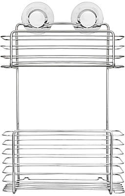 Bliss Lock N Roll 2 Tier Suction Shower Basket