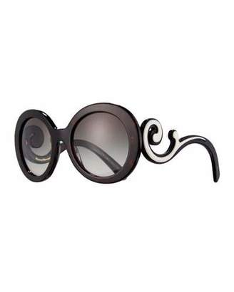 Prada Gradient Round Scroll Sunglasses $360 thestylecure.com